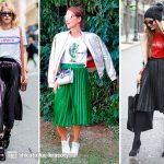 С чем носить зеленую плиссированную юбку – С чем носить юбку плиссе (51 фото)
